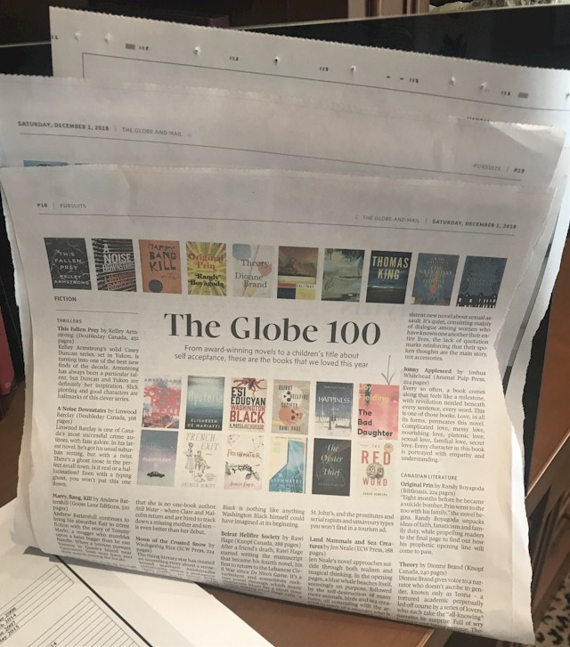 The Bad Daughter made the list of the Globe's top 100 books of 2018
